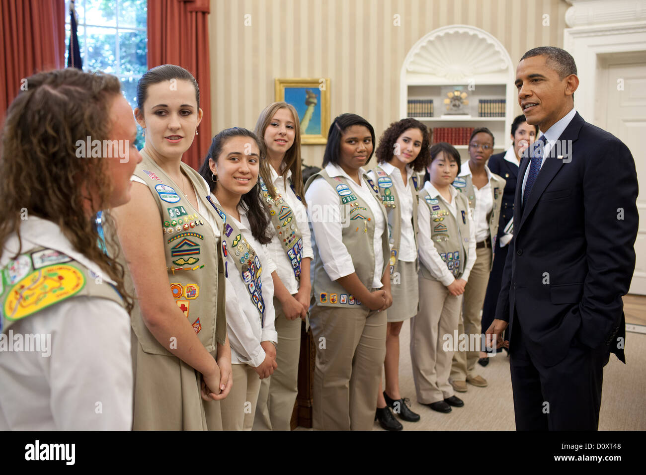 president barack obama talks with girl scout gold award winners in the oval office of the barak obama oval office golds