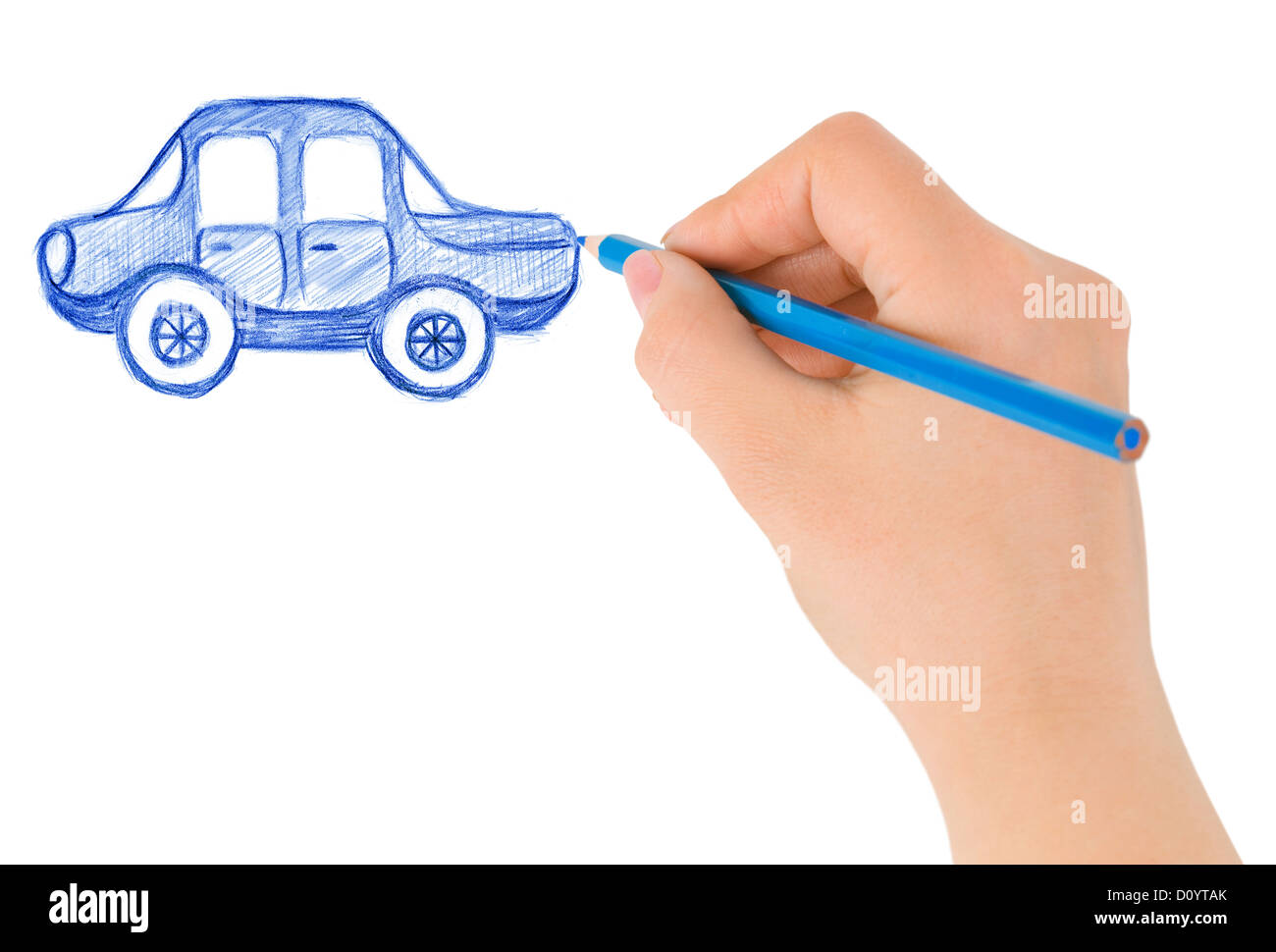 Hand drawing car Stock Photo, Royalty Free Image: 52242923 - Alamy