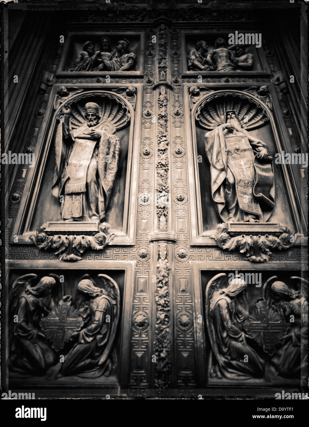 Russian Orthodox reliefs on the bronze doors of St. Isaac\u0027s Cathedral in St. Petersburg Russia. & Russian Orthodox reliefs on the bronze doors of St. Isaac\u0027s ... Pezcame.Com