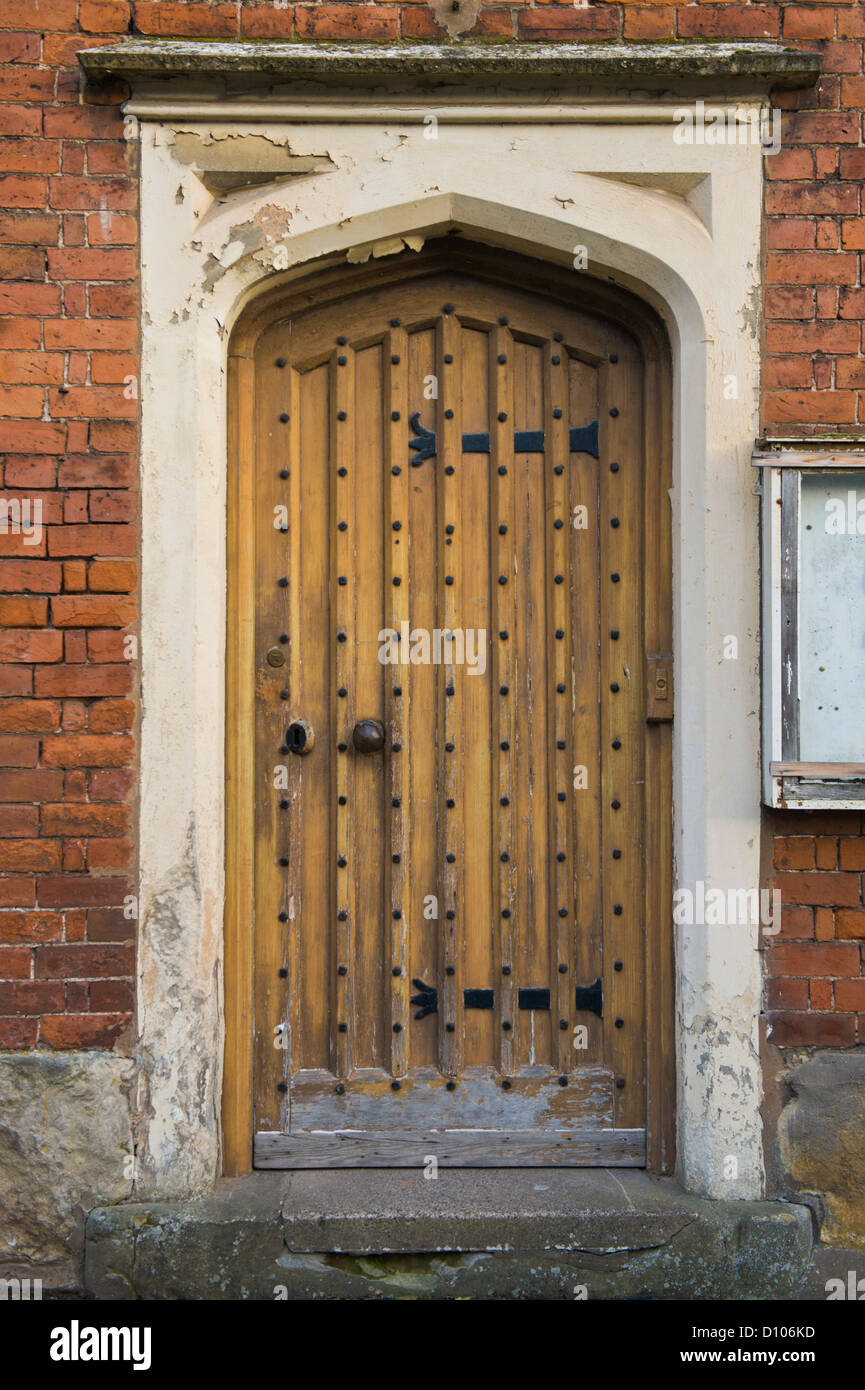 Gothic Style Front Door Of Former Workhouse At Tenbury Wells Stock Photo Royalty Free