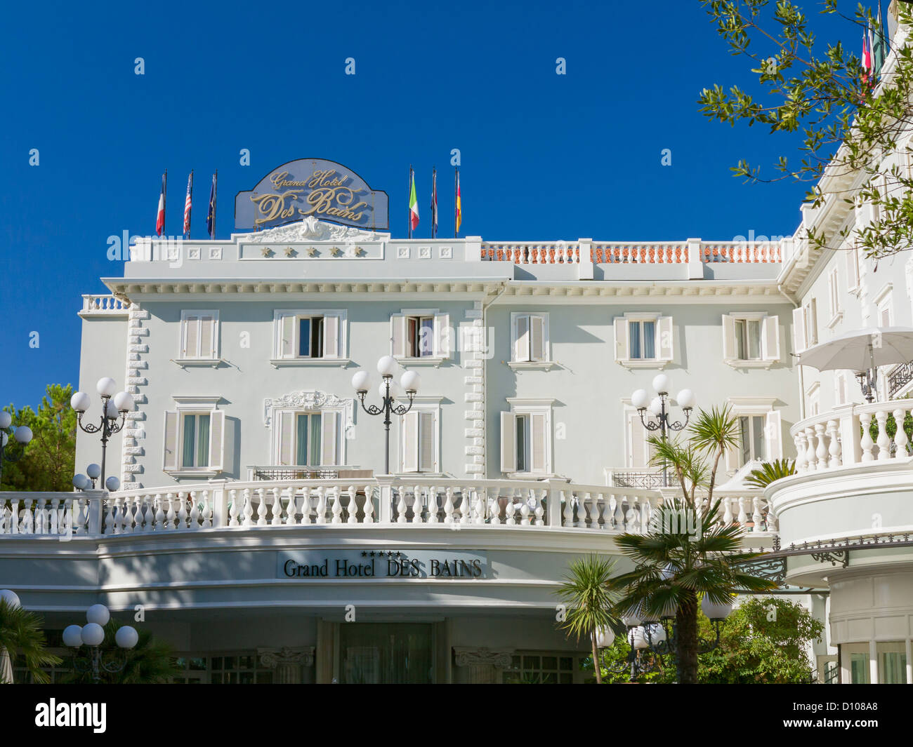 Grand hotel des bains in riccione italy stock photo for Grand hotel des bain