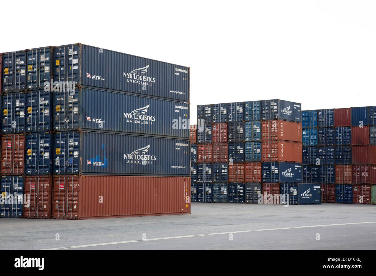 duisburg germany container stack in the container port duisburg stock photo royalty free. Black Bedroom Furniture Sets. Home Design Ideas
