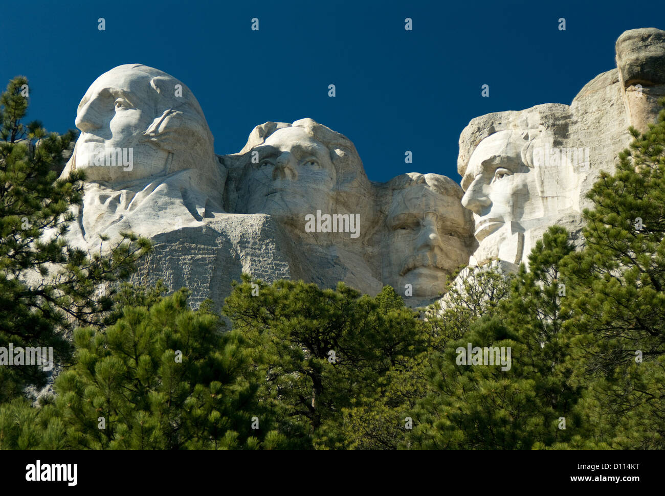Who are the four faces of Mt. Rushmore?