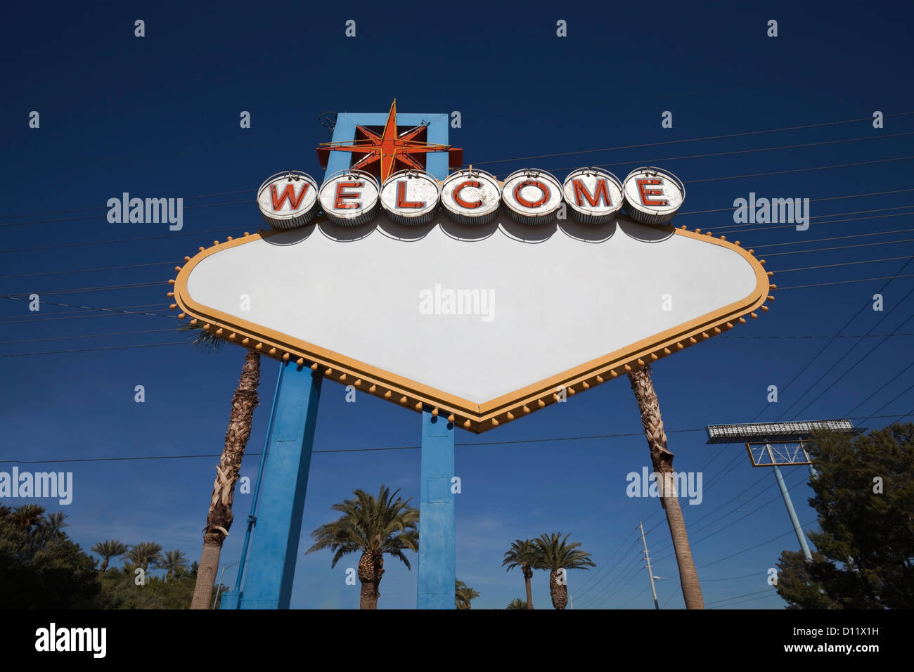 las vegas welcome sign blank with text removed stock image