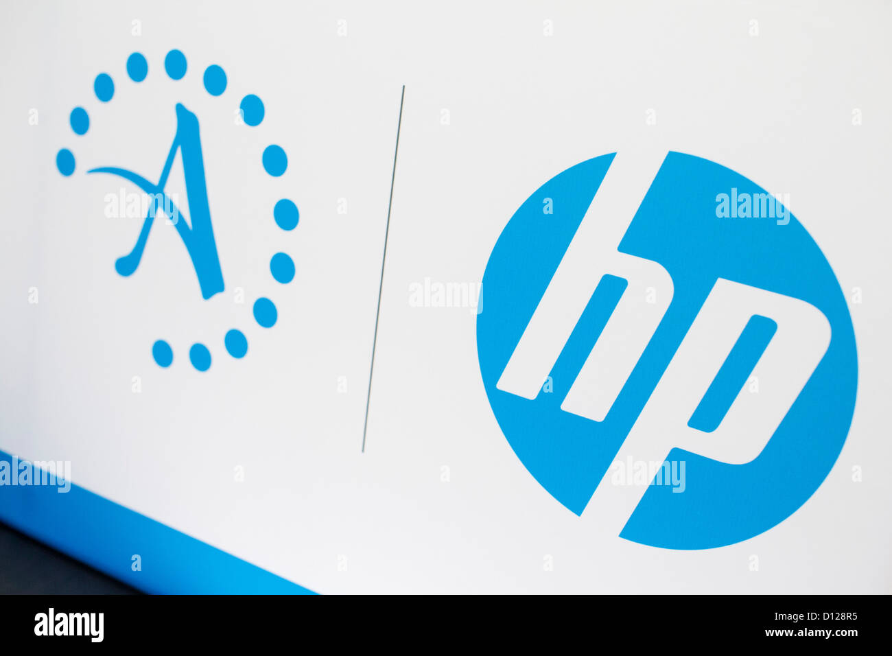 Hewlett Packard And Autonomy Logos Stock Photo Royalty Free Image