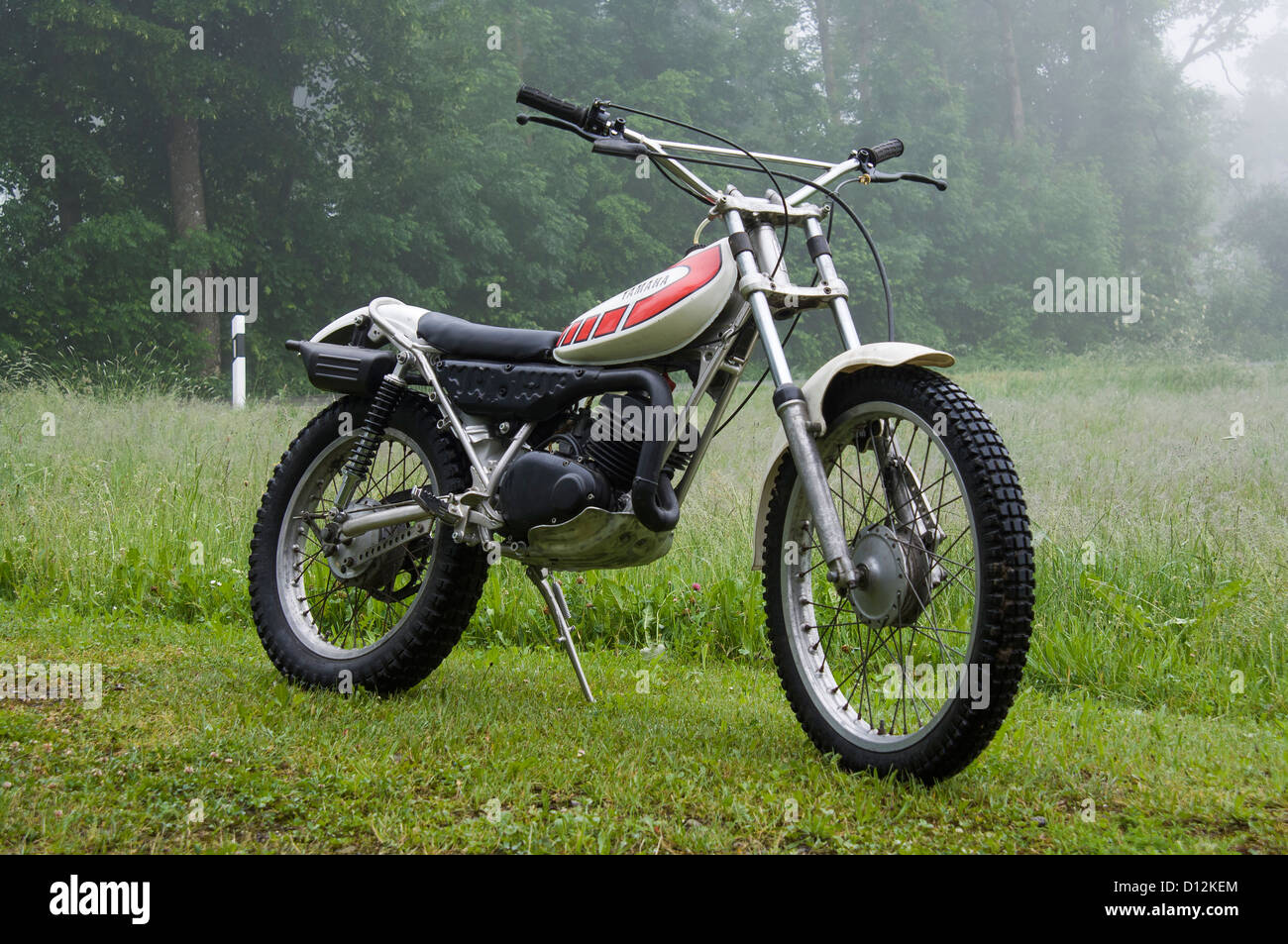 yamaha ty 125 classic trial motorcycle from the 70ies stock photo royalty free image 52304972. Black Bedroom Furniture Sets. Home Design Ideas