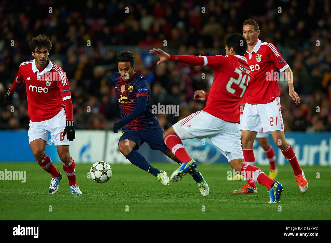 Thiago Alcantara FC Barcelona Ezequiel Garay SL Benfica