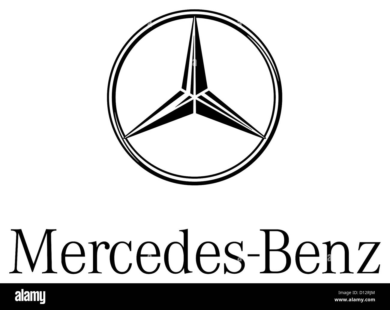 Logo of the make of car mercedes benz of the german for Mercedes benz text