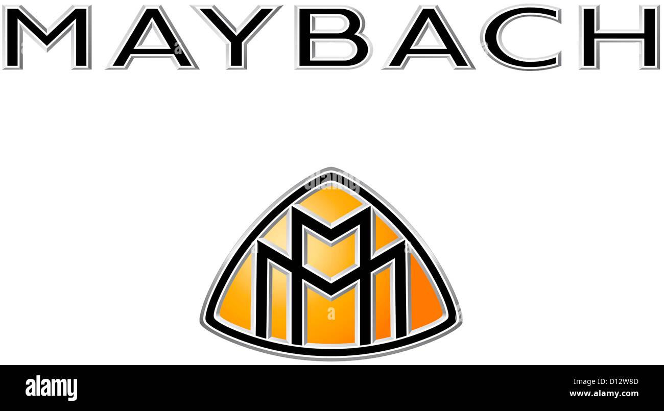Maybach Symbol >> Logo of the luxury make of car Maybach the Maybach Motorenbau GmbH Stock Photo, Royalty Free ...