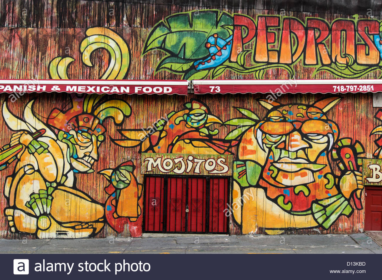 Dumbo, Wall Painting, Mexican Food, Pedros, NYC Stock ...