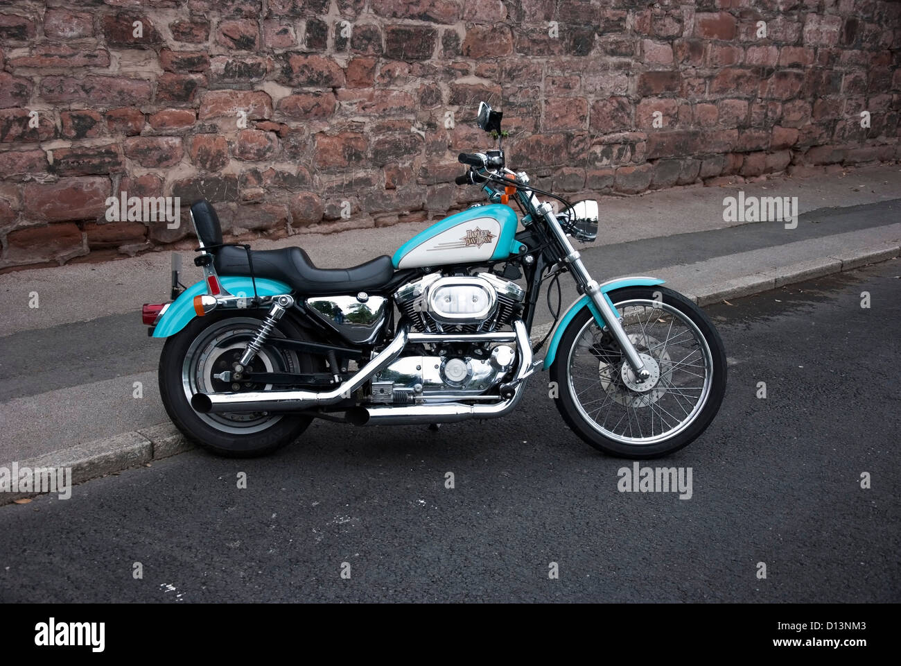 1997 Harley Davidson Xl 1200 Sportster Custom Motorcycle Stock Images