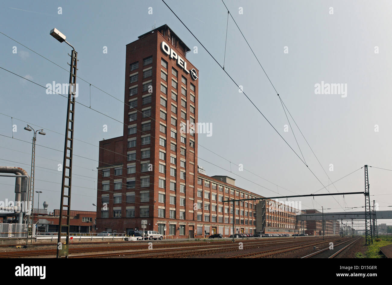russelsheim germany opel tower of adam opel gmbh stock photo 52368479 alamy. Black Bedroom Furniture Sets. Home Design Ideas