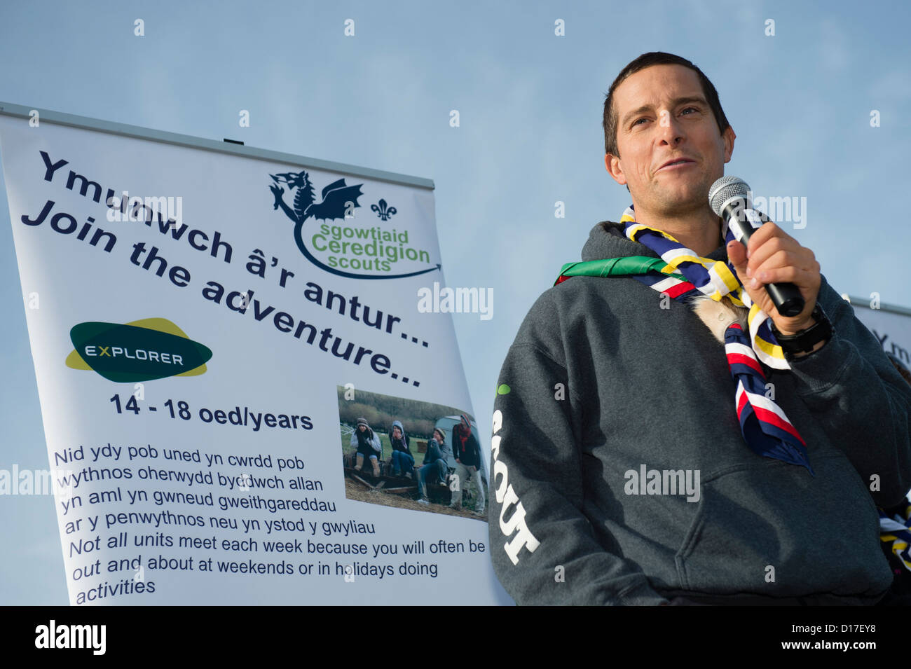 A 9 year old boy in his cub scout uniform in the Uk Stock Photo ...