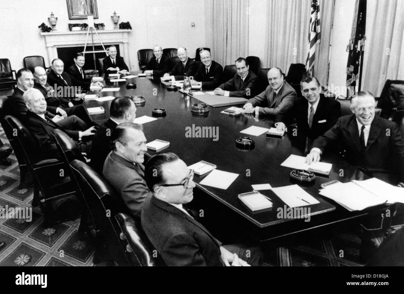 Nixon Administration Cabinet President Richard Nixon Holds First Formal Meeting Of His Cabinet