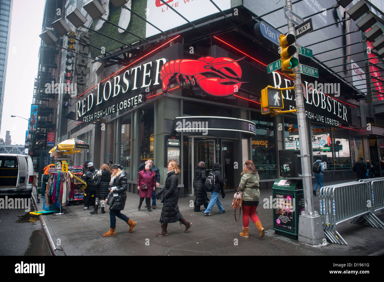 A Red Lobster Restaurant In Times Square In New York Stock Photo Royalty Fre