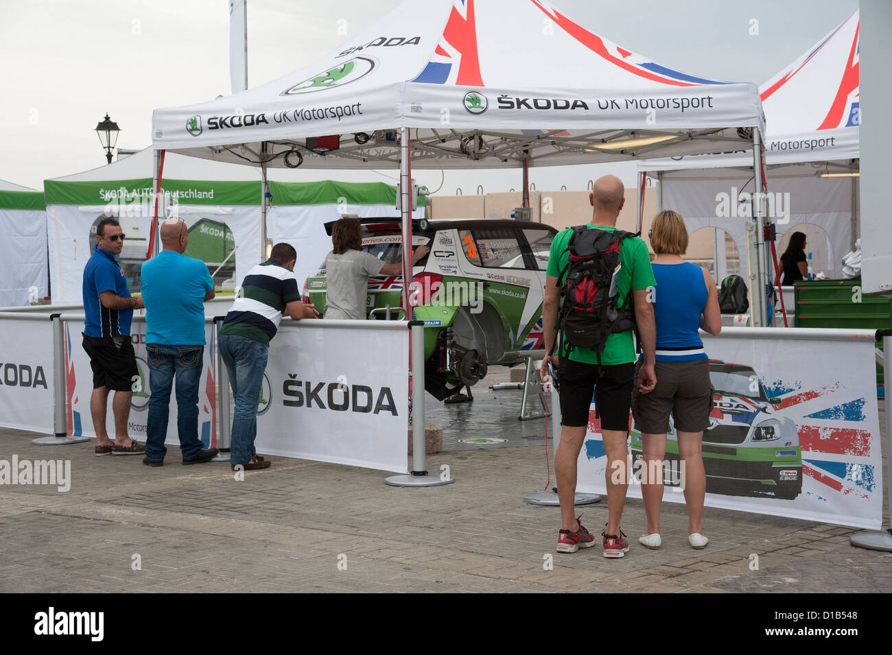 Cyprus Rally Skoda UK Motorsport tented area at Paphos Cyprus November 2012 & Cyprus Rally Skoda UK Motorsport tented area at Paphos Cyprus ...