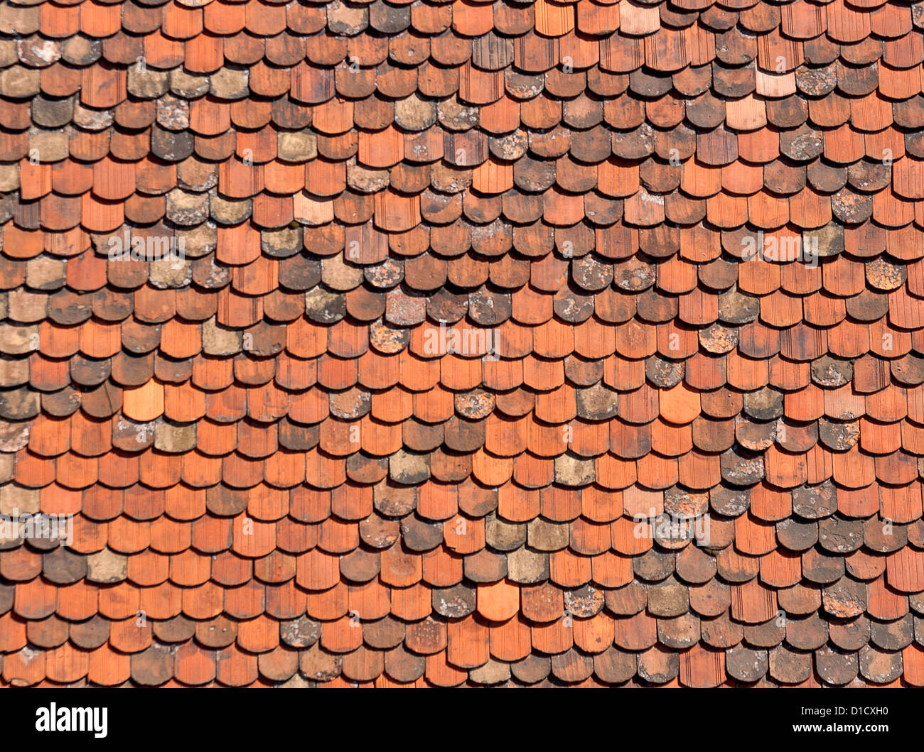 Attractive Old Red Brick Roof Tiles From Zagreb, Croatia.