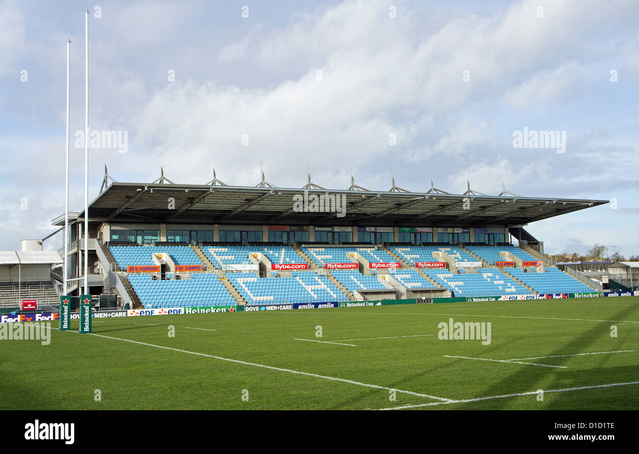 The Main Stand At Sandy Park Home Of Exeter Chiefs Rugby
