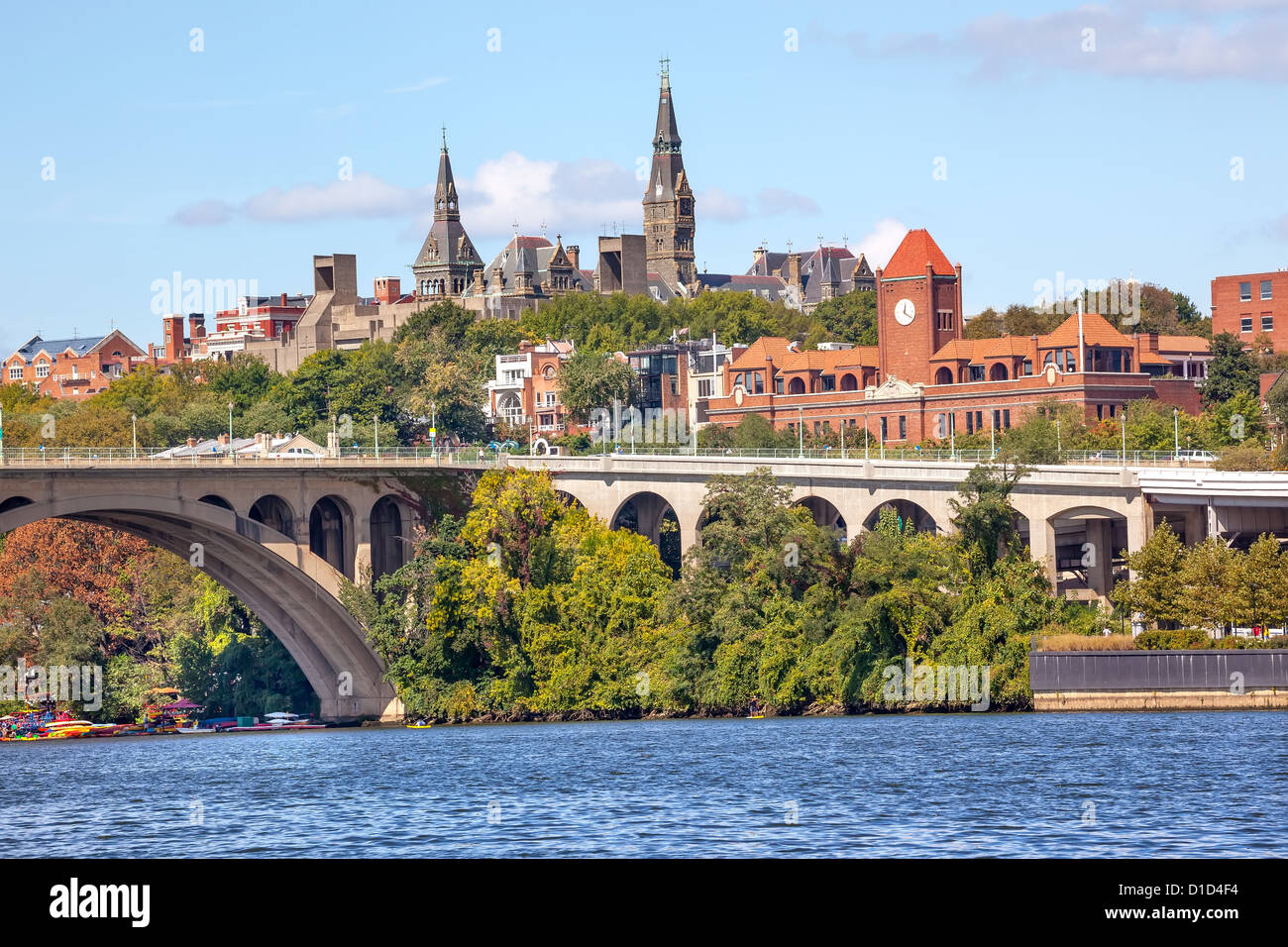 Key Bridge Potomac River Georgetown University Washington
