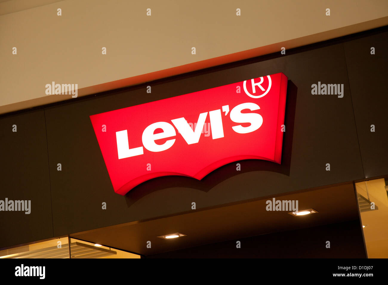 levis jeans store shop sign logo close up mk centre milton keynes stock photo royalty free. Black Bedroom Furniture Sets. Home Design Ideas