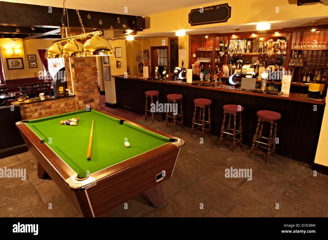 Marvelous Stock Photo   The Swan Inn Pool Table Pub Bar