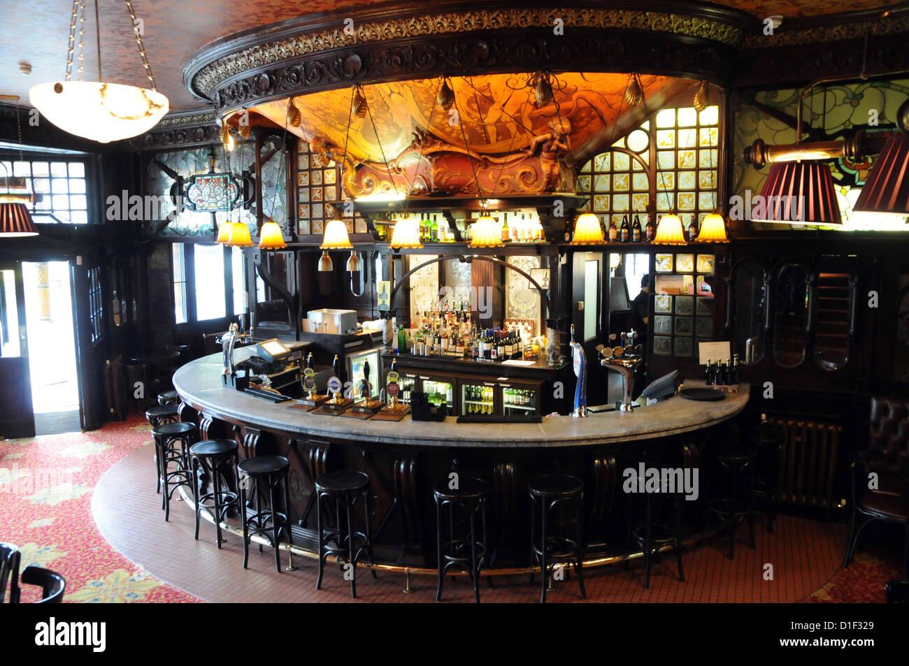 Art Nouveau Bar At The Warrington Pub Maida Vale London