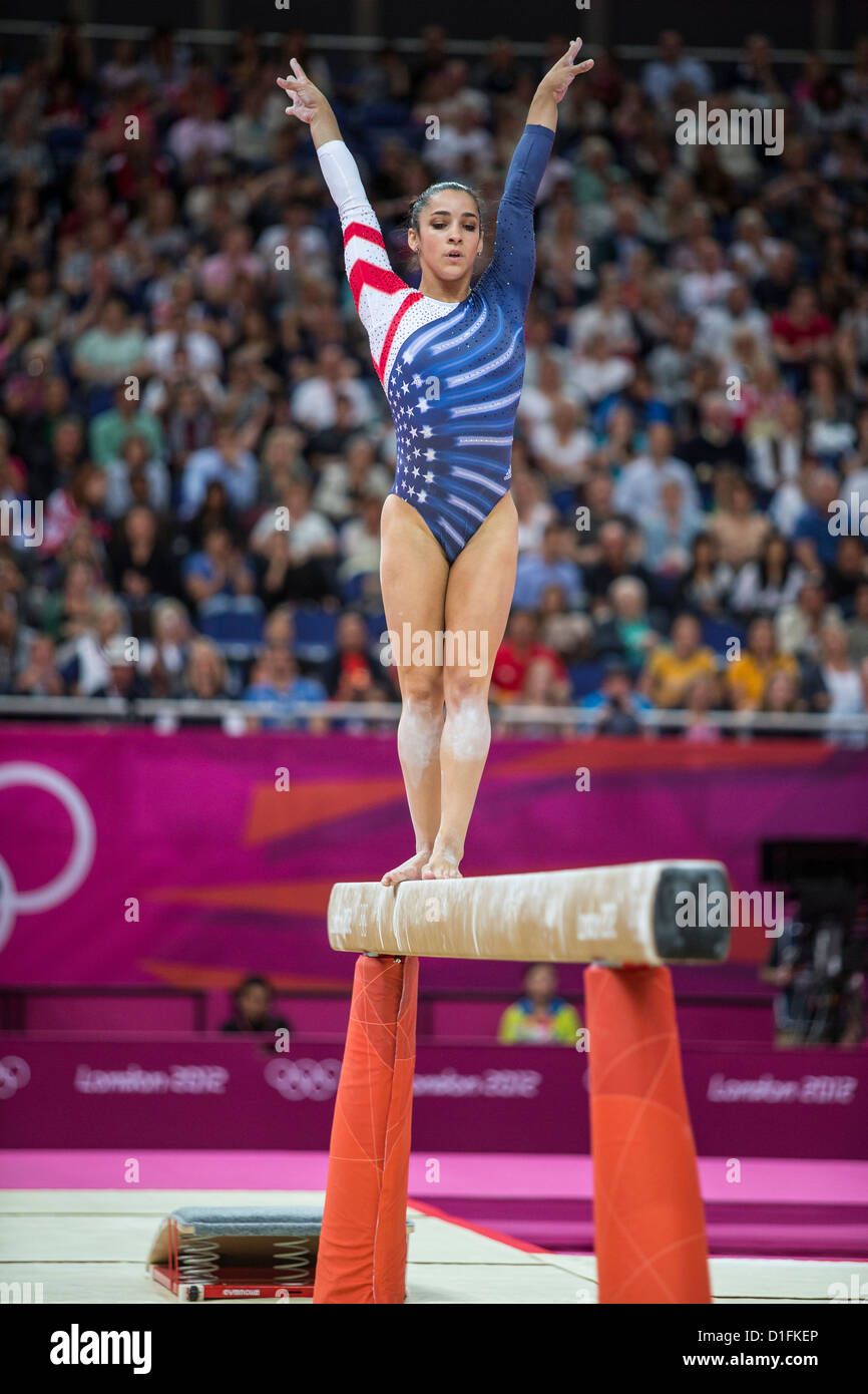 alexandra raisman usa competing during the womenu0027s balance beam final at the olympic