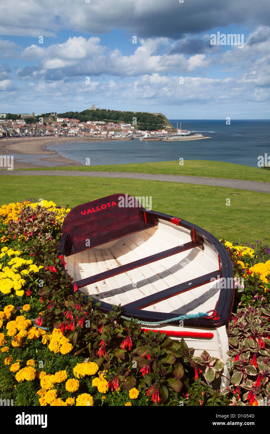 Wedding Flowers Scarborough North Yorkshire : Rowing boat and flower display at south cliff gardens