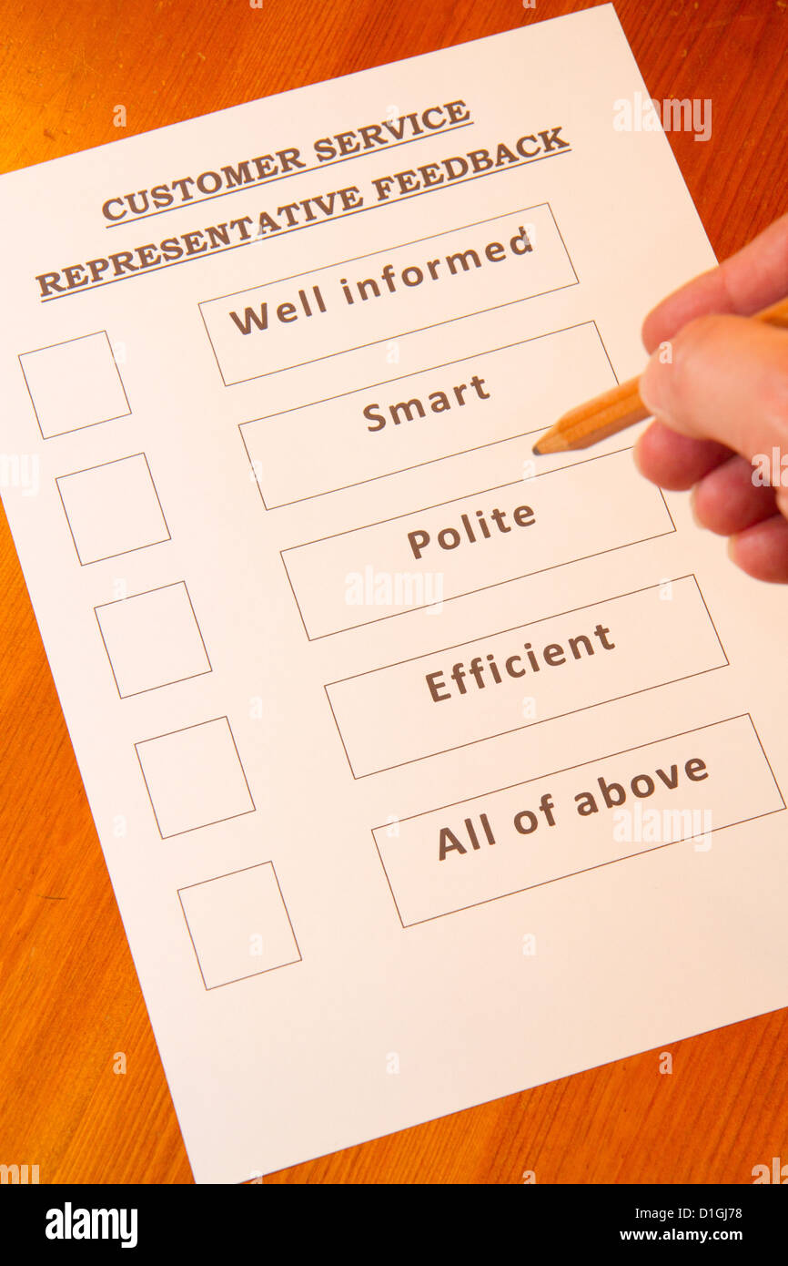 Customer Service Feedback Form with options for rating service – Service Feedback Form