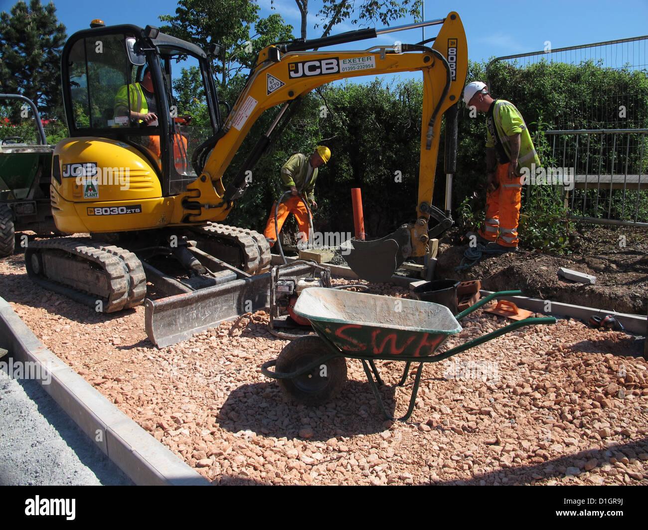 Roadworks Repairs Repairing Highway Maintenance On Urban Footway ...