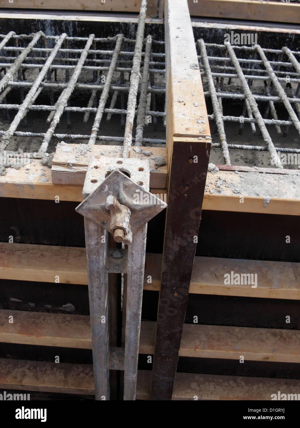 Shuttering For Bridges : Shuttering concrete pour rebar timber formwork of strip