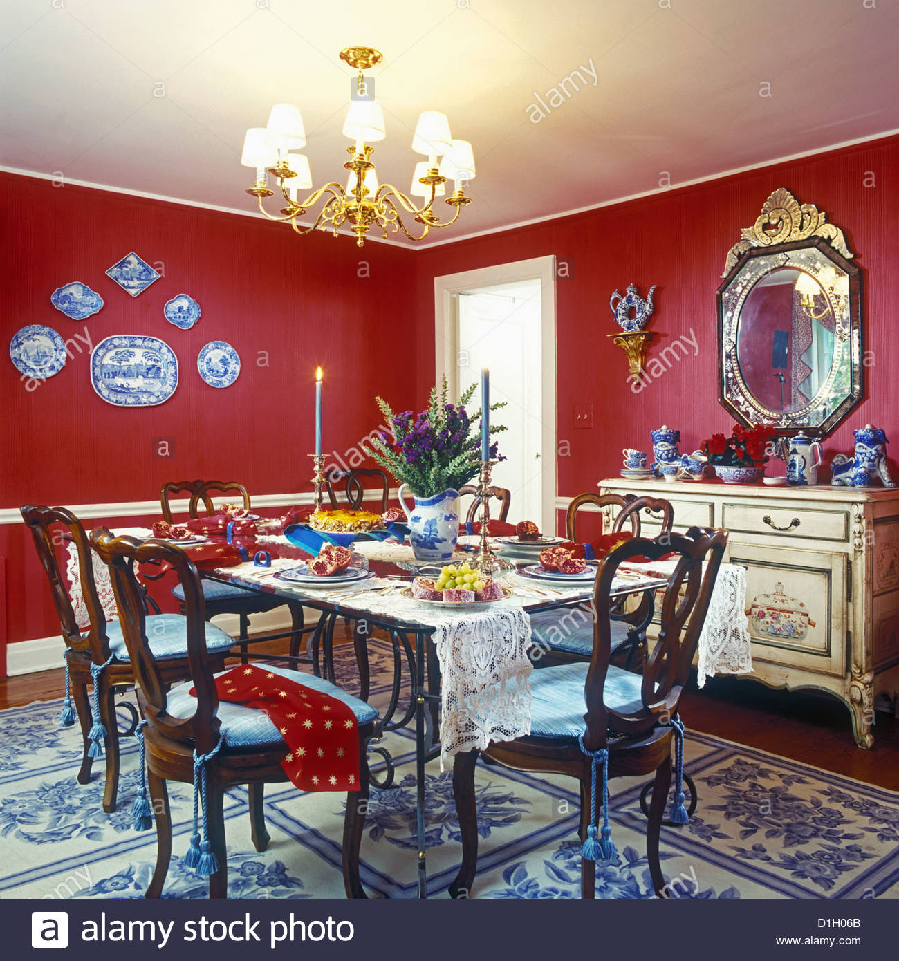 Chair Rails In Dining Room Dining Rooms Red Walls Eclectic Mix White Painted Trim And Chair