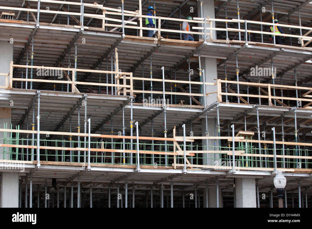 Shoring System Used As Temporary Floor Support During Building Construction