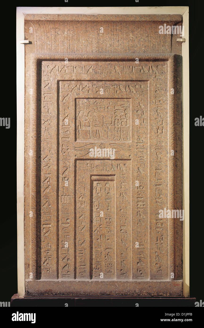 Great Egypt False Door Pink Granite Reigns Of Thutmose III And Hatshepsut  Egyptian Museum Cairo
