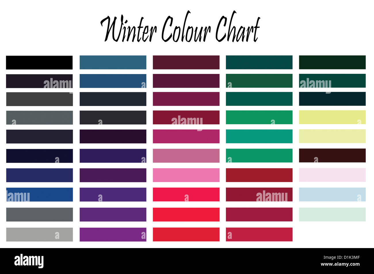 Color chart for winter type woman for clothes and makeup stock color chart for winter type woman for clothes and makeup nvjuhfo Image collections