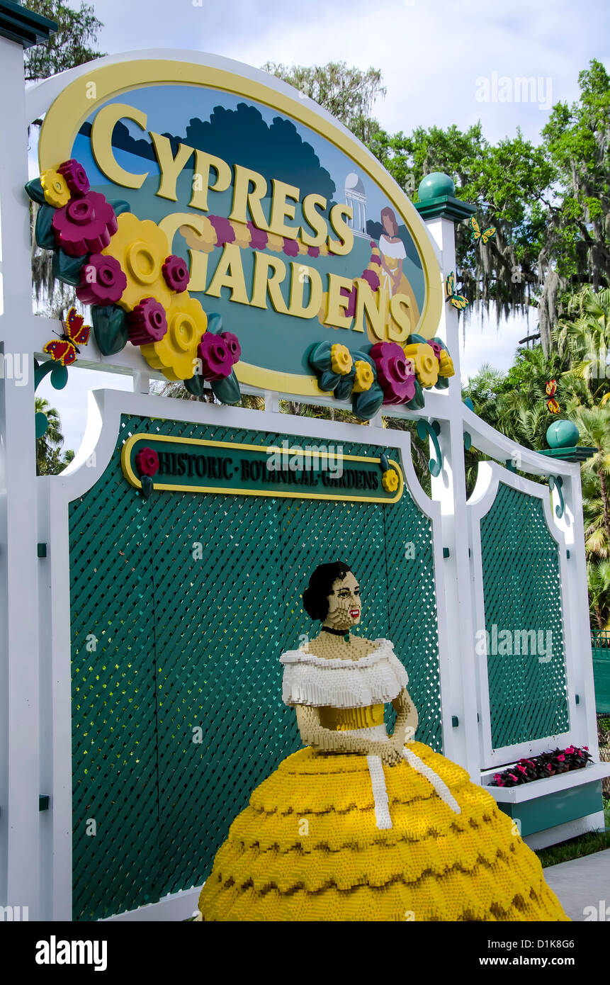 legoland florida with cypress gardens sign and lego traditional