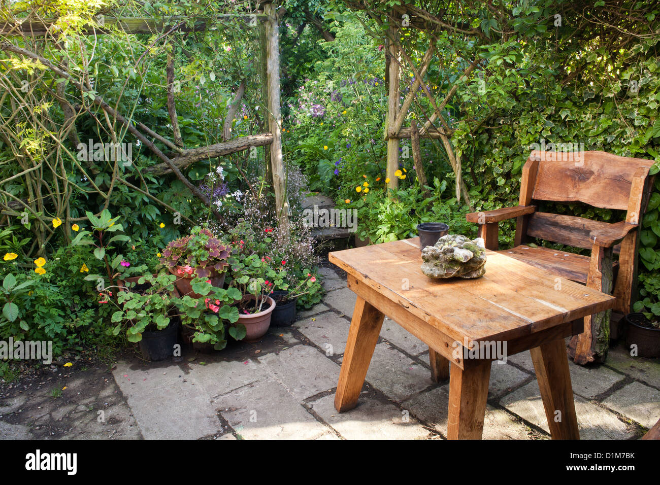 rustic garden furniture. Rustic Garden Furniture. Relaxing Area On A Patio With Furniture