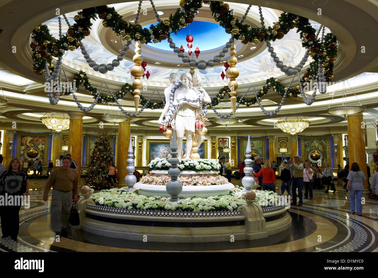 Stock photo lobby of caesars palace luxury hotel and casino las vegas nevada usa