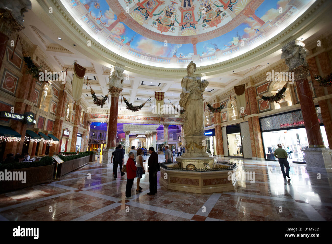 Stock photo foyer and entrance to the forum shops at caesars palace luxury hotel and casino las vegas nevada usa