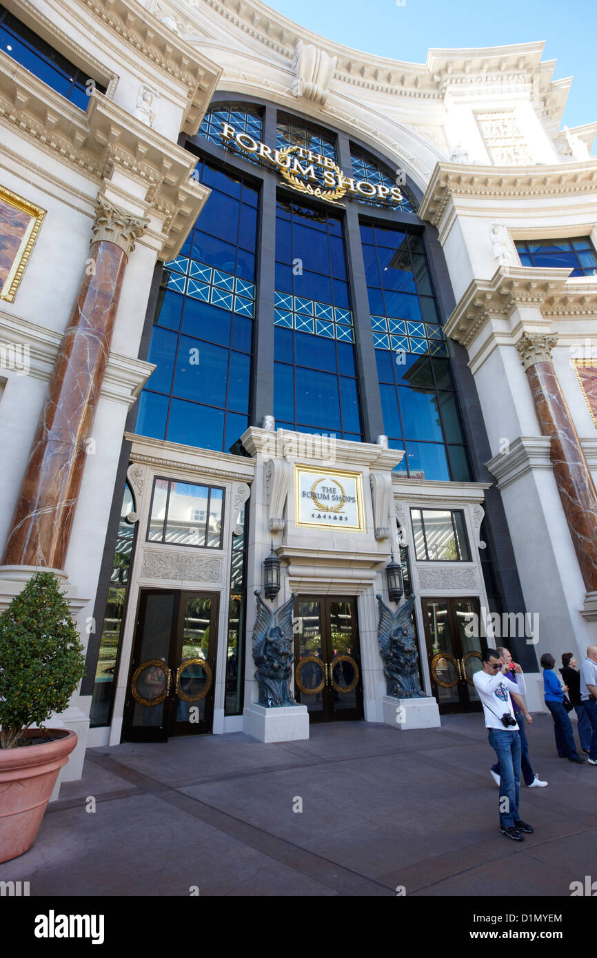 Stock photo entrance to the forum shops at caesars palace luxury hotel and casino las vegas nevada usa