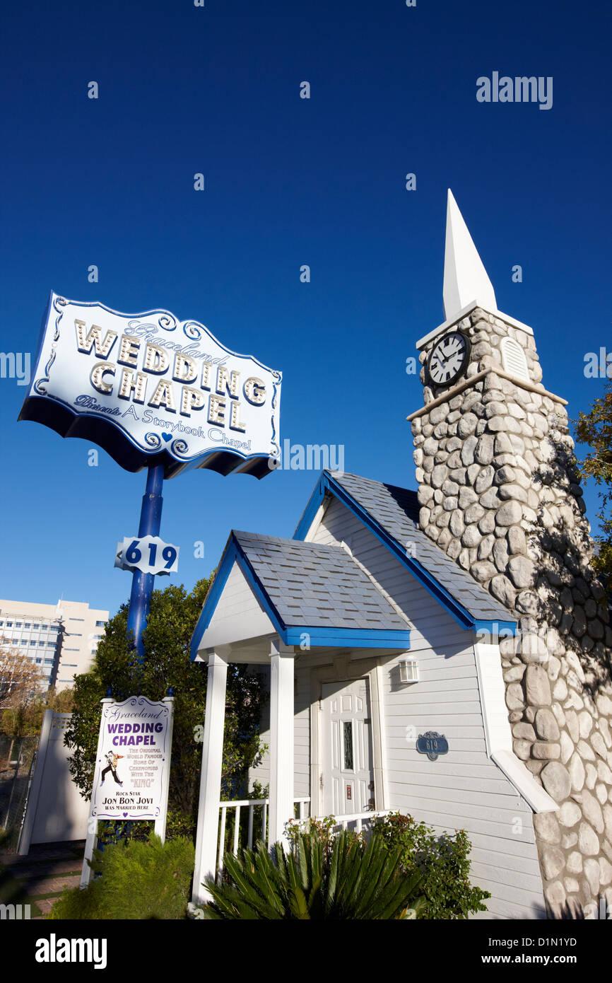 Graceland Wedding Chapel On The Downtown Strip Las Vegas Nevada