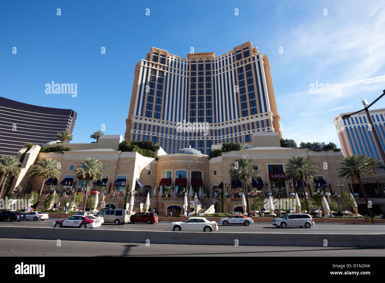 Stock photo the palazzo luxury hotel and casino resort las vegas nevada usa