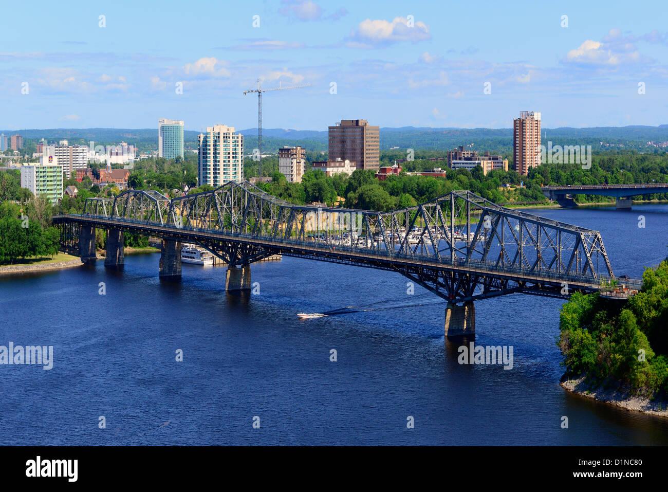 gatineau qc_Gatineau Quebec across the Ottawa River as viewed from Ottawa Ontario Stock Photo ...