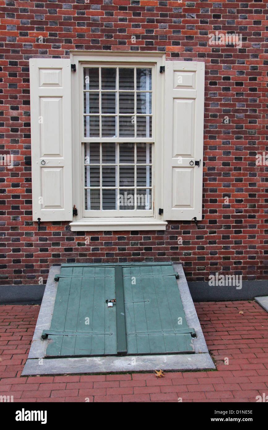 Colonial house basement entrance and window philadelphia for Basement entrances