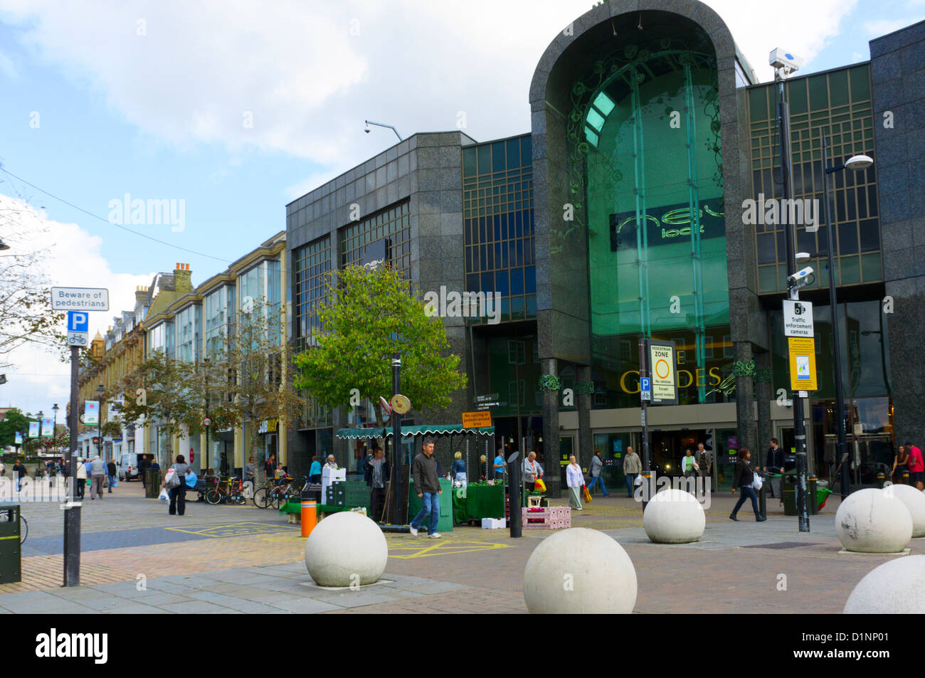 The entrance to the glades shopping centre in bromley for The bromley