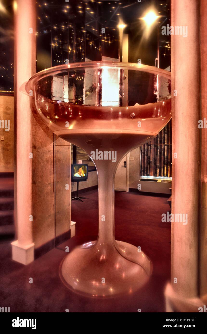 Champagne Glass bath in Pocono Resort hotel in the Poconos Mpuntains  Pennsylvania USA