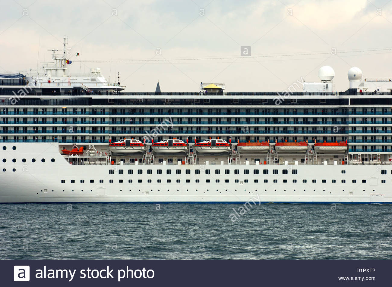 Port Side Of The Cruise Ship Costa Atlantica With Life Rafts Stock Photo Royalty Free Image ...