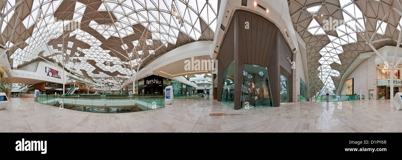 360 Degree panorama of the interior of the Westfield Shopping Centre in  Shepherds Bush, West London