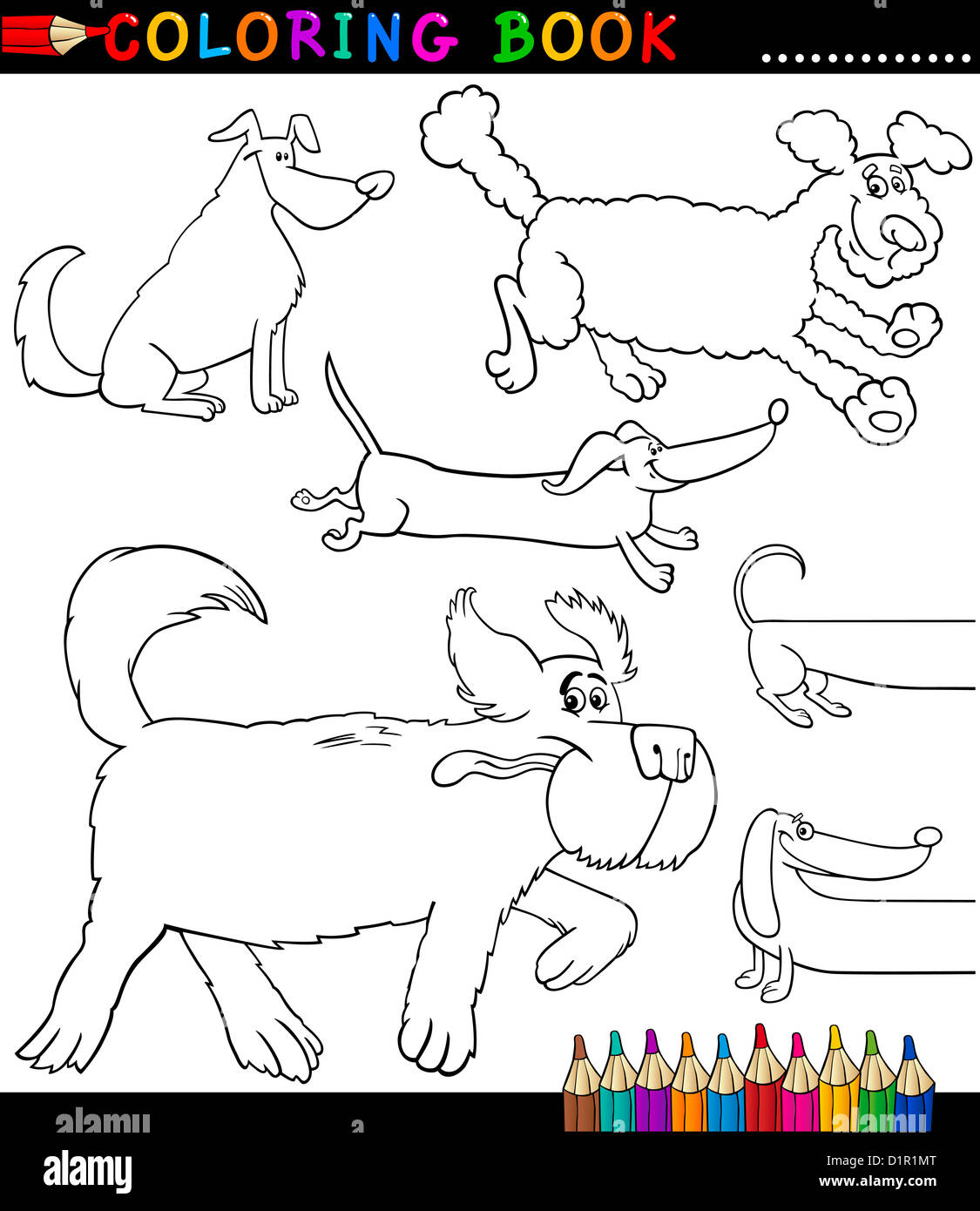 Coloring Book or Coloring Page Black and White Cartoon