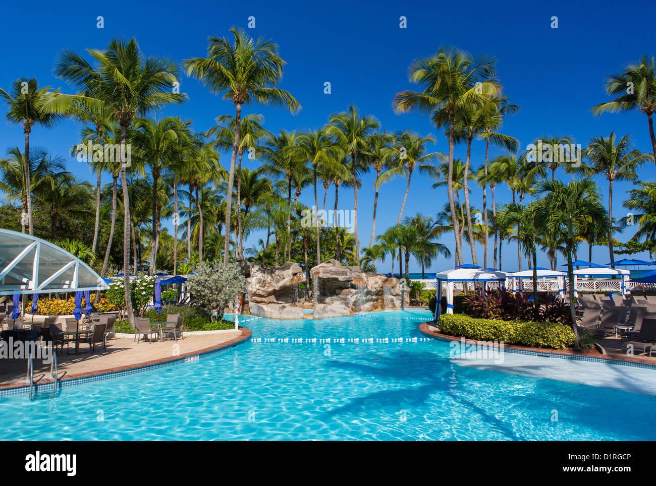 San juan puerto rico swimming pool at intercontinental hotel a beach resort at isla verde